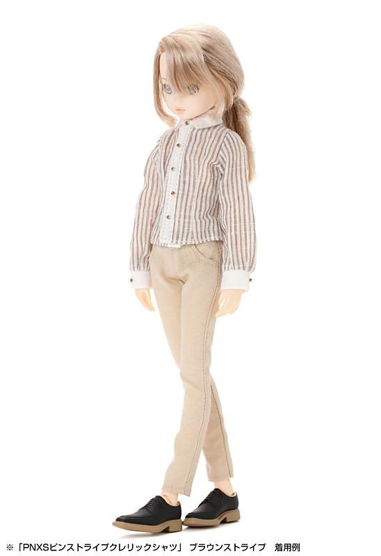 画像1: 【ネコポス可】アゾン製:こもれび森のお洋服屋さん♪「PNXSピンストライプクレリックシャツ」 (1)
